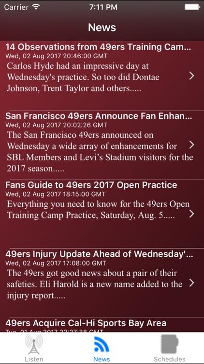 San Francisco Football Live - Radio, Schedule News screenshot-3