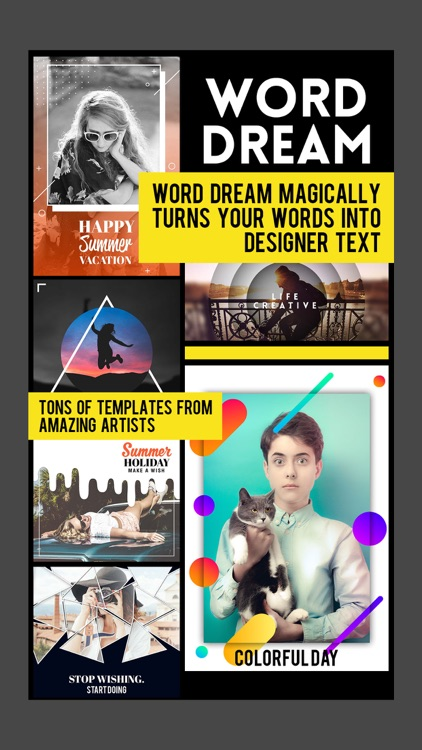 Word Dream - Cool Fonts & Typography Generator screenshot-0