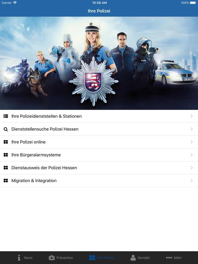 prventions app im app store - Polizei Bewerbung Hessen
