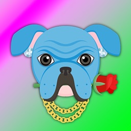 Blue Bling Hip Hop Bulldog
