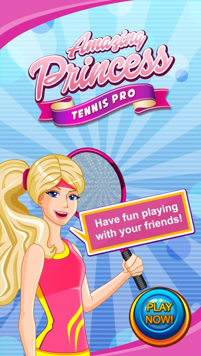 Amazing Princess Tennis Pro screenshot one