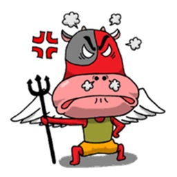 Fairy Cowman Sticker