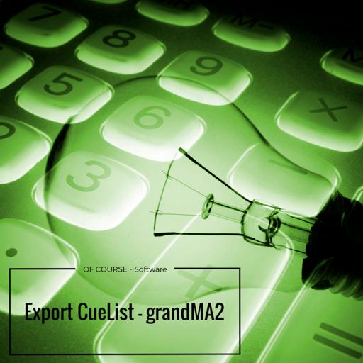 Export CueList - gma2