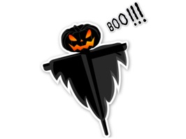 Black Halloween Stickers