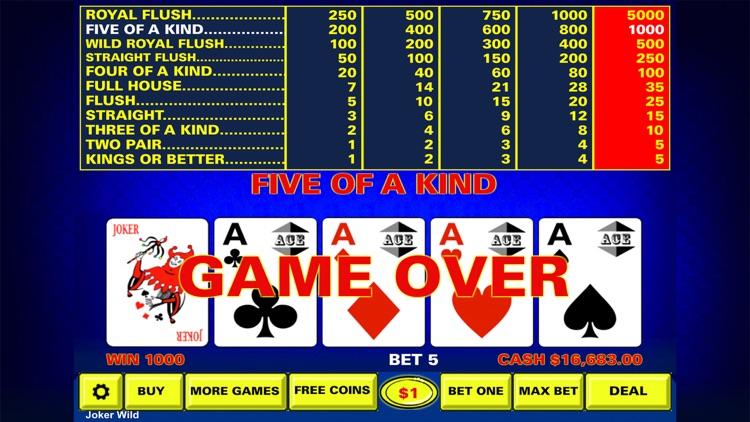 Video Poker - Casino Style screenshot-3