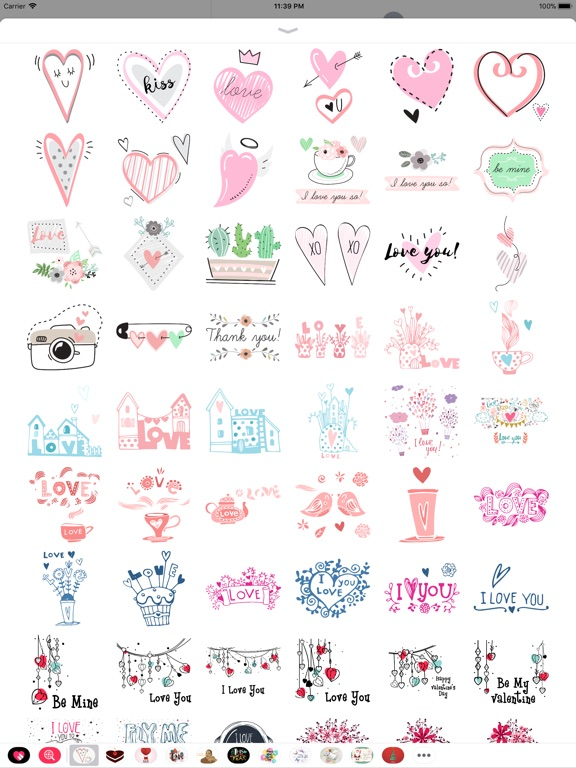 Hand Drawn Send Love Stickers screenshot 7