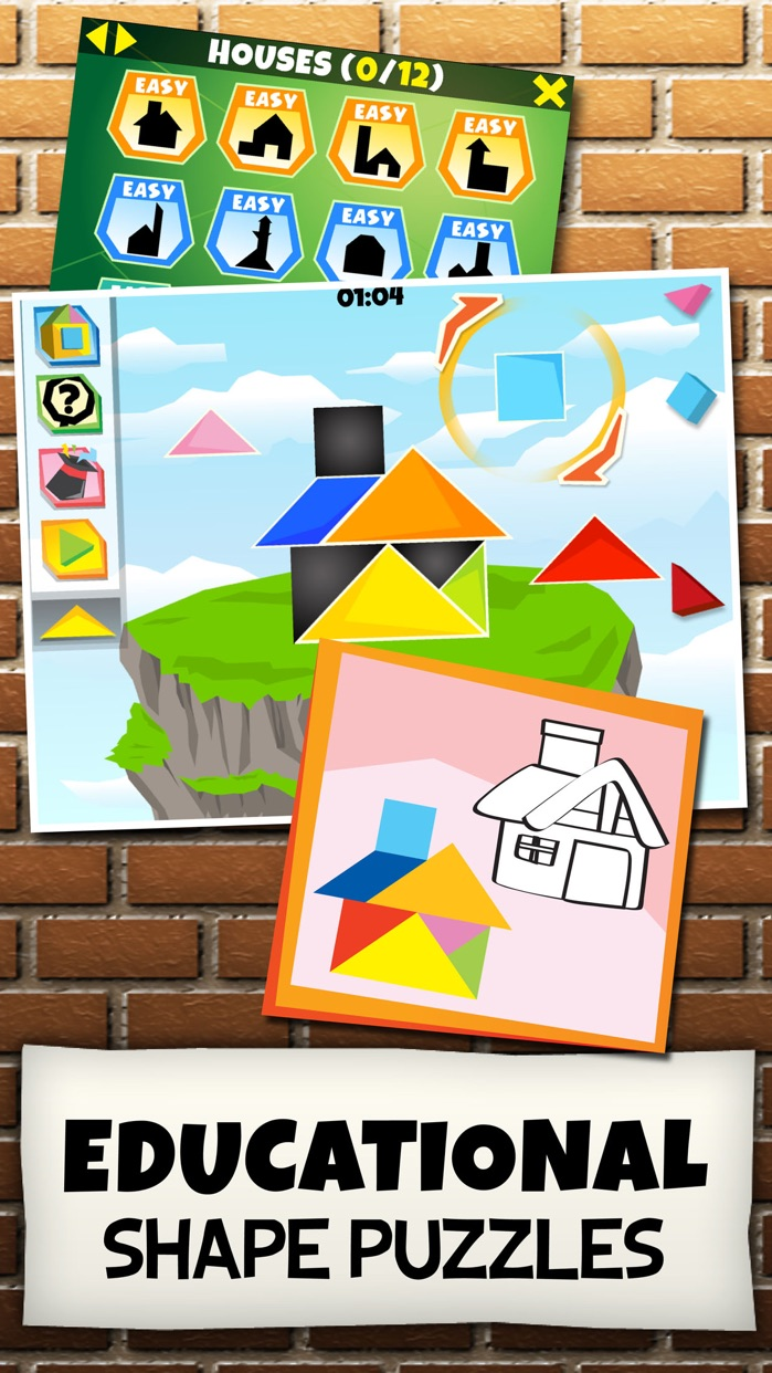 Kinder Tangram: Build a House Screenshot