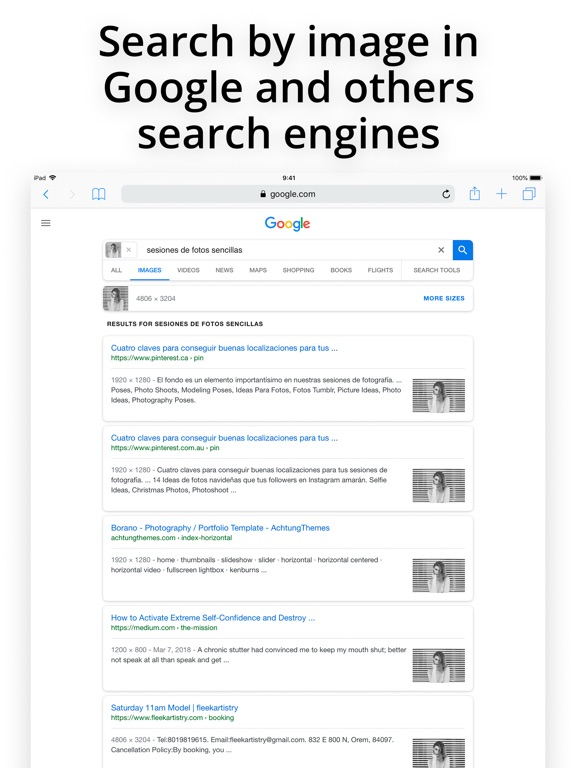 Search by Image Extension Screenshots