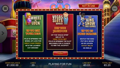Cat in Vegas Slot Machine screenshot two