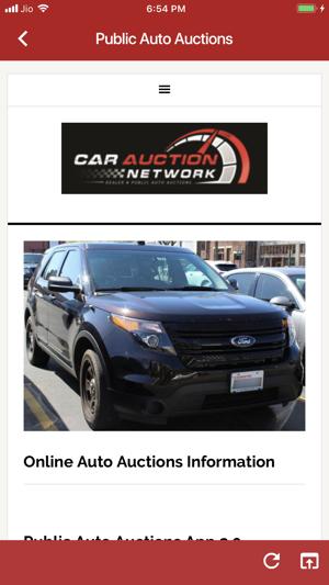 Online Public Car Auction >> Public Auto Auctions On The App Store