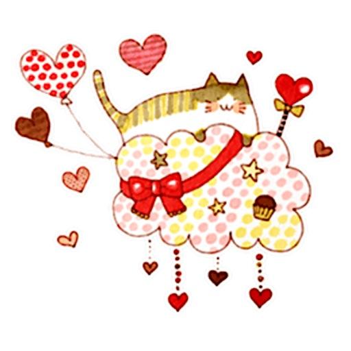 Colorful Dreams Of Cat Sticker