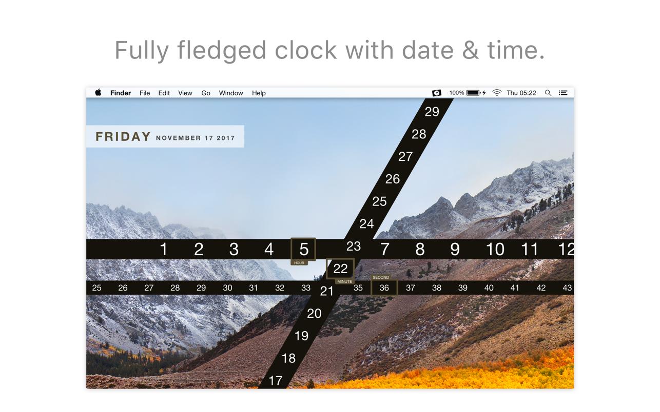 Ribbon - Wallpaper Clock