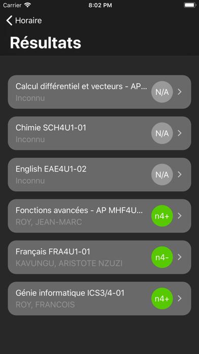 Portail des Élèves screenshot three