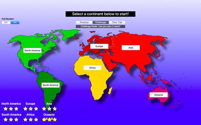 World map challenge geography en mac app store capturas de pantalla gumiabroncs Choice Image