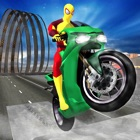 Superhero Motorcycle & Bicicleta  façanha corrida icon