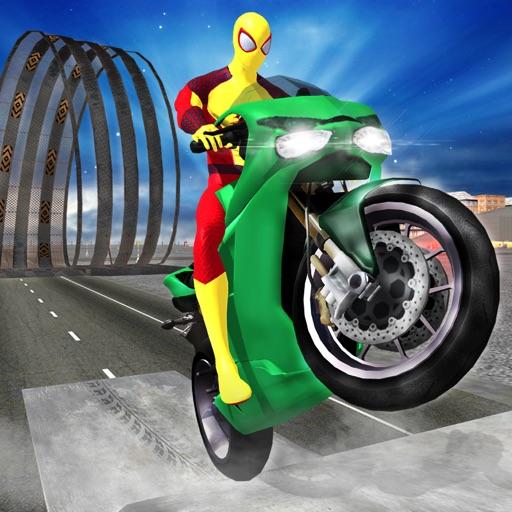 Супергерой Мотоцикл & велосипед раса