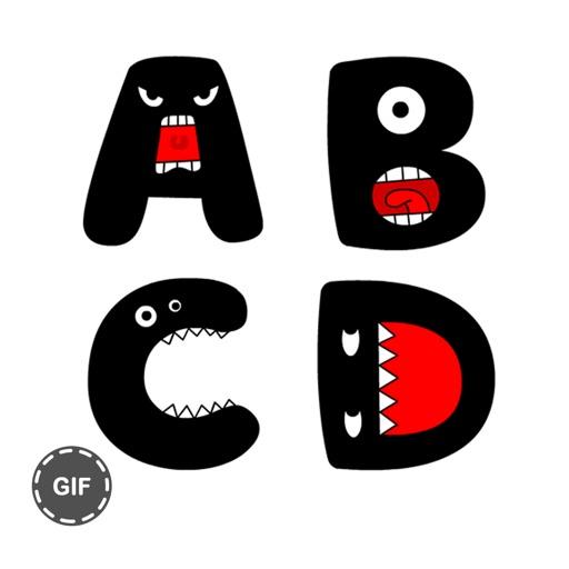Alphabets Stickers Gif