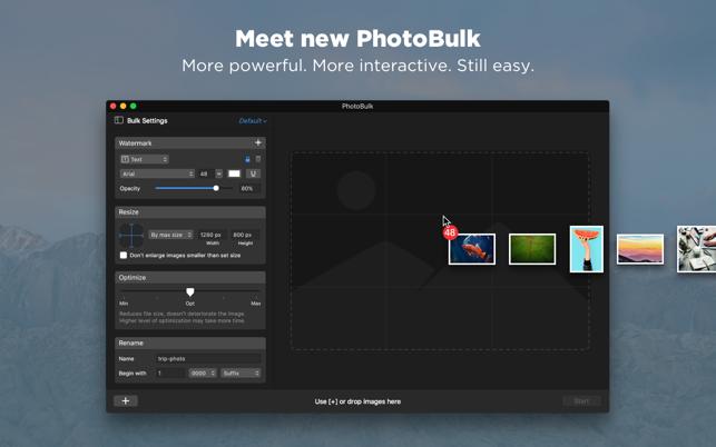 PhotoBulk: watermark in batch