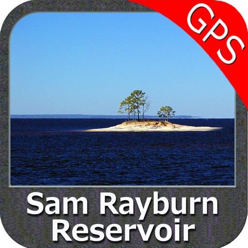 Sam Rayburn Reservoir GPS offline fishing charts