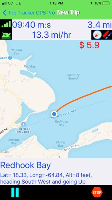 Trip Tracker GPS Professional Screenshots