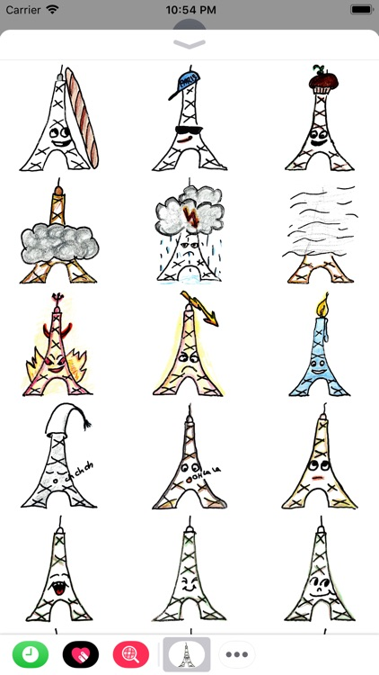 Eiffel-Sticker screenshot-3