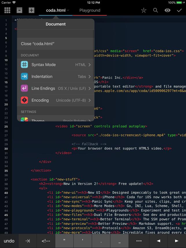 Coda Screenshot