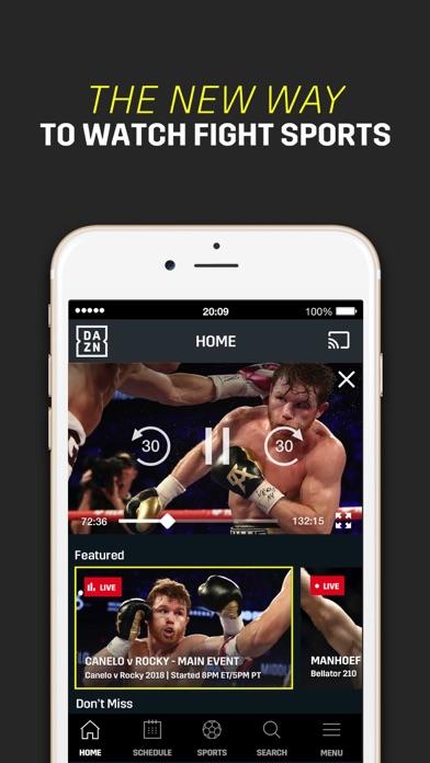 DAZN: Live Sports Streaming screenshot 1