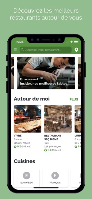 LaFourchette Restaurants Capture d'écran