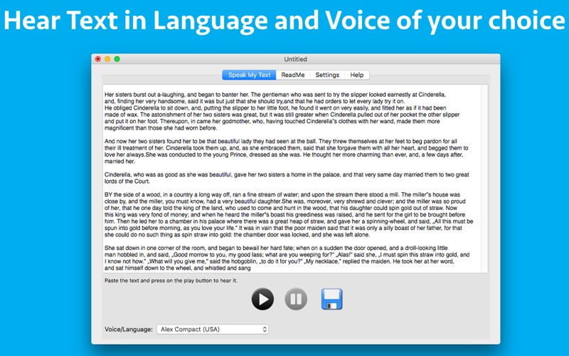 Speak My Text for Mac