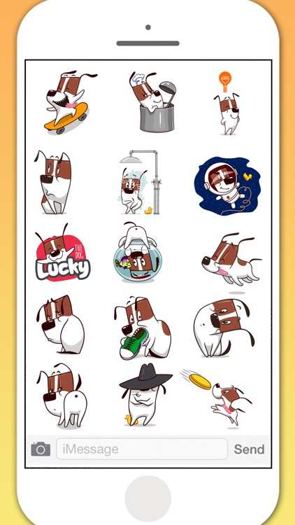 Lucky Dog Animated Stickers
