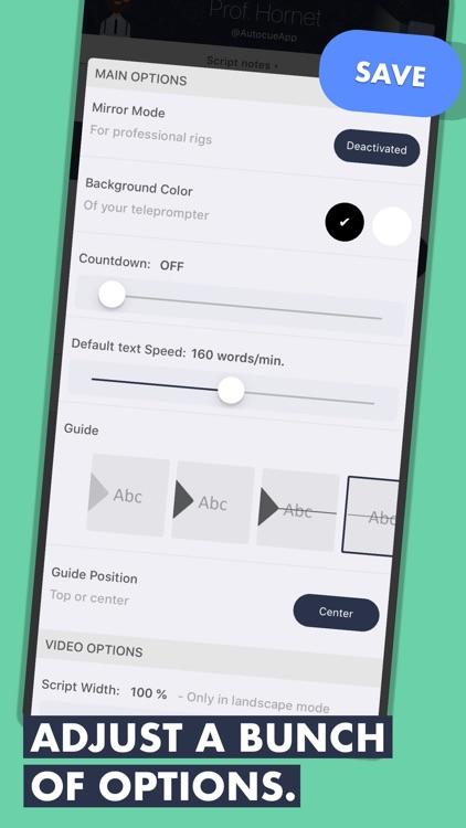 Prof. Hornet Easy Teleprompter screenshot-4