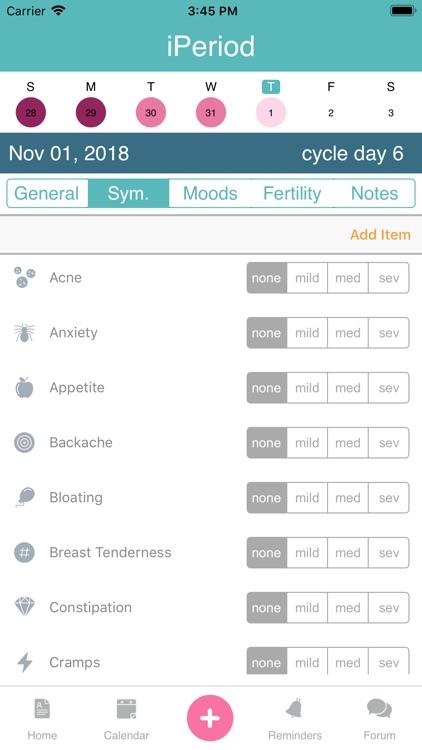 iPeriod Period Tracker + screenshot-4