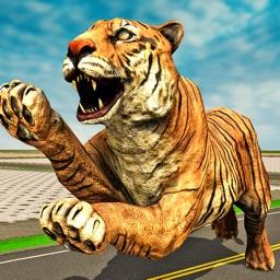 Wild Tiger Beast City Attack