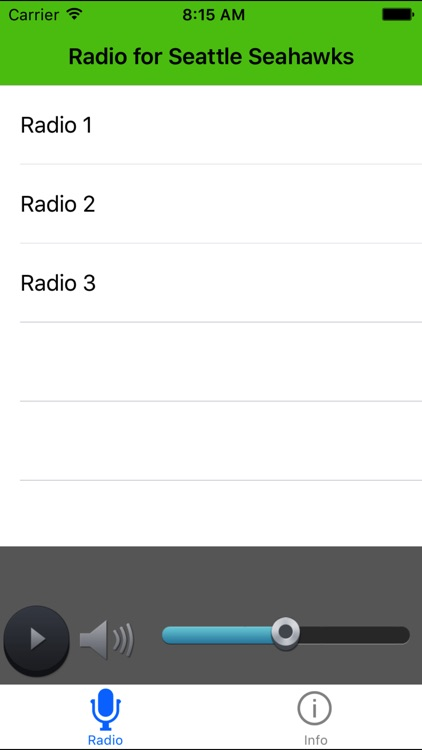 Radio for Seattle Seahawks