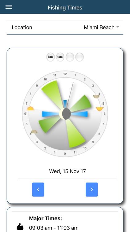 Fishing Times Calendar