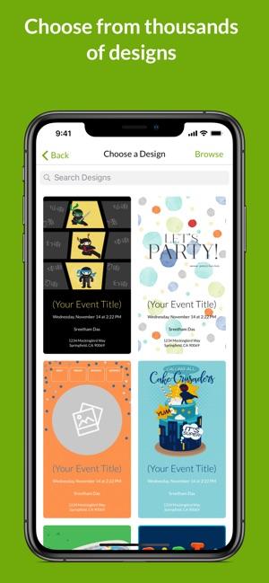 evite online text invites on the app store