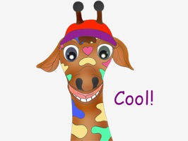 23 Funny giraffe expressions from our beloved Rainbow giraffe who stars in our books Helper Happy