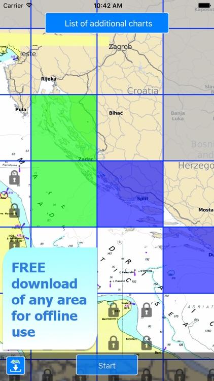 Aqua Map Croatia, Nautical GPS screenshot-4