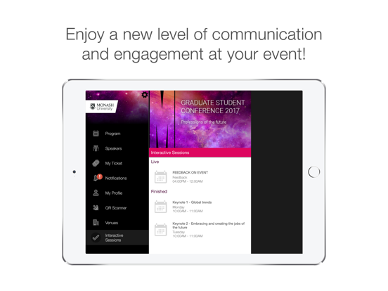 Monash University Events Portal screenshot 6