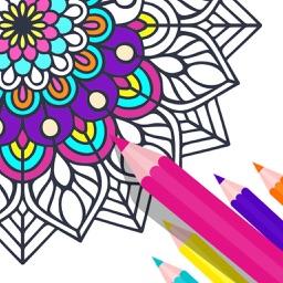 Draw Mandala Coloring Book