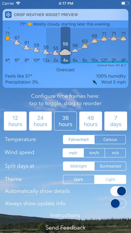 Crisp Weather Widget