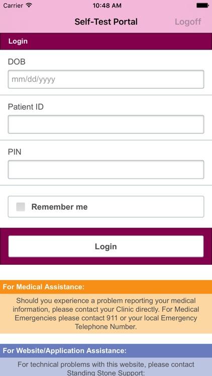 Alere CoagClinic® Self-Test Portal