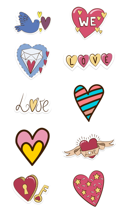 Love Stickers + Quotes - 80's Vintage & Retro Set screenshot 5