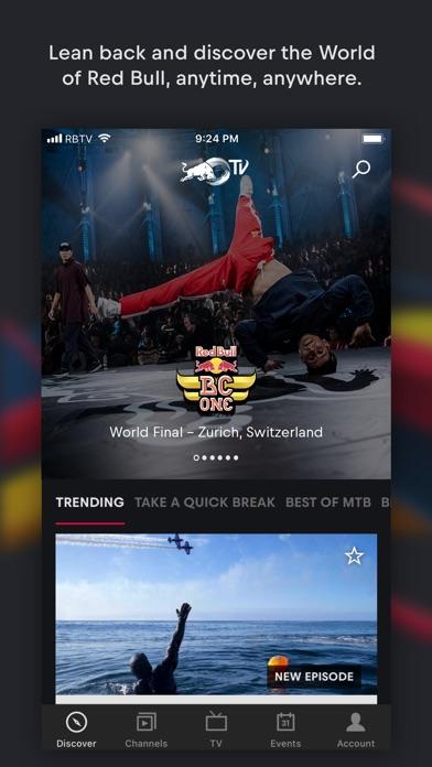 Red Bull Tv review screenshots
