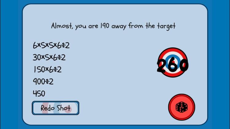 5 Dice Math Game screenshot-7