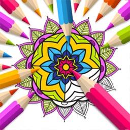 Mandala Book - Color Painting