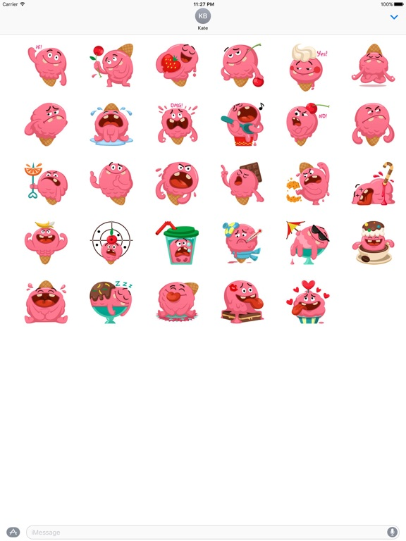 Ice Cream Emoji Sticker screenshot 3