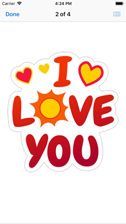love you stickers