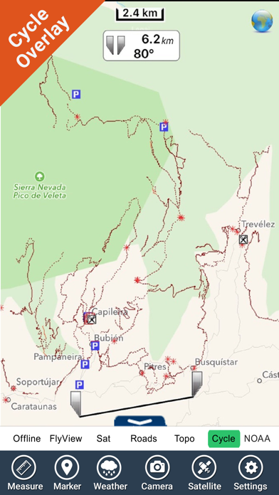 Parque Nacional Sierra Nevada - GPS Map Navigator screenshot one