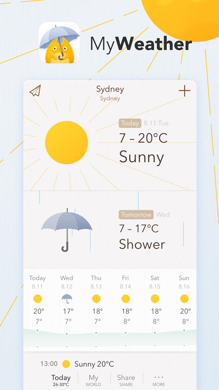 MyWeather - 10-Day Forecast Screenshot